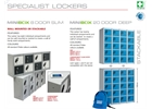 New MINIBOX steel lockers