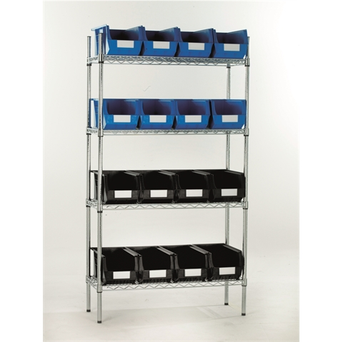 Chrome shelving & Linbins