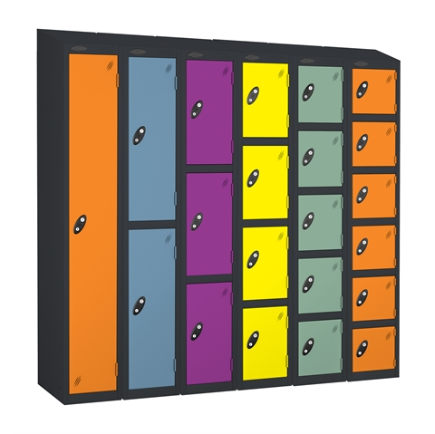 Probe Sloping Top Full Height Autumn Colours Lockers