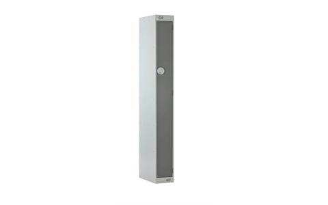1 Door Slimline Locker 1800h x 225w x 500d mm - CAM Lock - Door Colour - Dark Grey