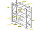 Identification and names of Apex pallet racking parts